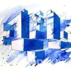 «Архитектурная композиция» Анна Касперович, 13 лет
