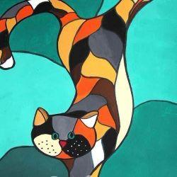 «Витражный кот» Мария Фокина, 12 лет
