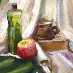 «Учебный натюрморт» Надежда Нестеренко, 15 лет