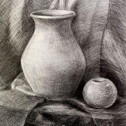 «Учебный натюрморт»  Валерия Азанова, 17 лет