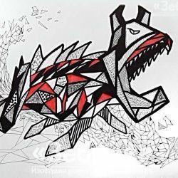 «Графика в стиле дудлинг» Николай Зиновьев, 13 лет